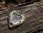 Steampunk heart necklace by Hiddendemon-666