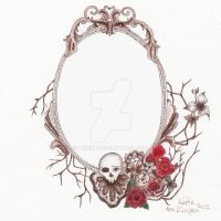 Vintage Frame Tattoo Design. by likekt