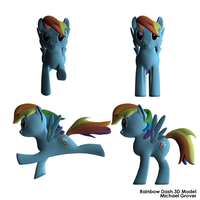 Rainbow Dash 3D Model by browen2o