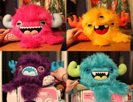 Four Custom Monstroctopi by loveandasandwich