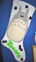 Totoro Stocking by studioofmm