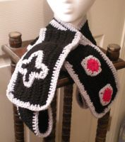 NES Controller Scarf II by pretending2bme