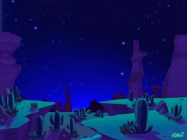 Cartoony Desert Background by ryanorosco