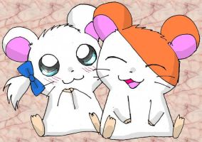 Hamtaro and Bijou by Endless-Rainfall