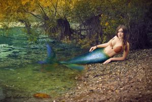The Autumn mermaid by gestiefeltekatze