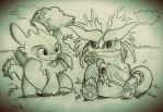 Besties Cloudjumper and Toothless (Dymsgirl0112) by Alexbee1236