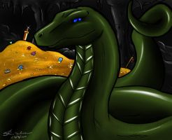 Draco the Python by Dracothesilverdragon