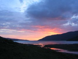 Sunset in Scotland by Julie27