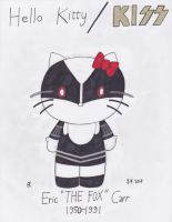 Hello Kitty/Kiss: Eric Carr by onyxswami