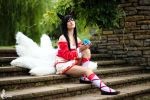 Ahri - League of Legends by greengreencat