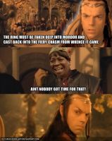 Aint nobody got time for Lord of the Rings by guywhodoesart