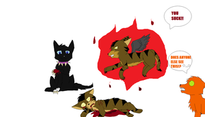 Tigerstar hates scourge by souleatersheik