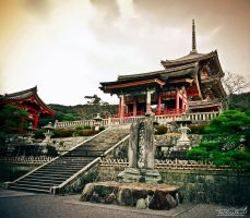 At Kiyomizu temple by Gallynette