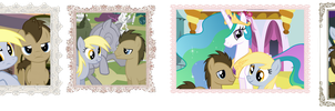 Derpy and Dr. Whooves Dates by Luuandherdraws