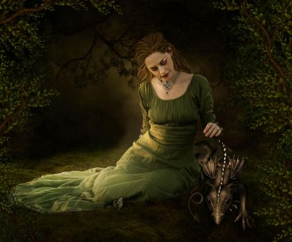 Enchanted forest by ArtbyValerie