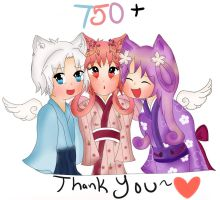 750+ Watchers by MoshuChan