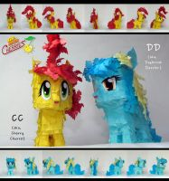 CC and DD Paper Plushies by C-quel