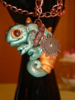 Steampunk Chameleon Necklace by LadySashaviv