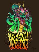 Dragon Warrior Tshirt Design by MirrorwoodComics