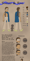 The Walking City OCT: Sindhu and Rag Character Ref by Novactus