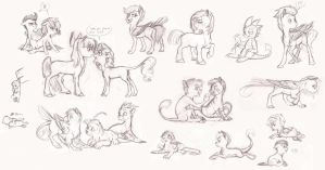 MLP- Foal Sketchdump by Earthsong9405