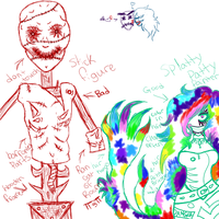 Splatty Patty Painter and The Stick figure doodles by Dysfunctional-H0rr0r