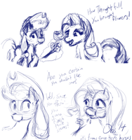 [Stupid Sketch] It's Funny 'Cause They're Horses by Obsequiosity