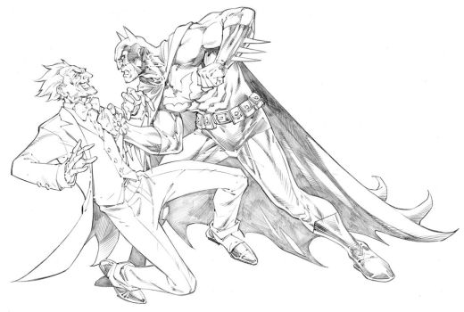 Batman and Joker by RandyGreen