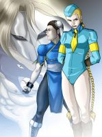 Vega Vs Chun Li and Cammy by Albert217