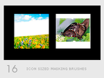 Icon Sized Masking Brushes by diebutterfliege