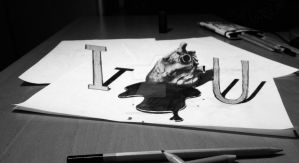 I love U - Anamorphic Art by DeVitoMirco