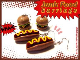 Junk Food Earrings by whitefrosty