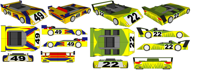 SketchUp - Lucky Luke's Car and The Daltons' Car by TeamFaustGames