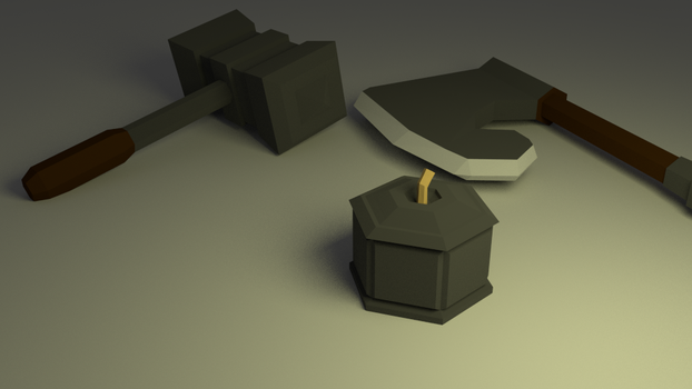 Lowpoly Dwarf Weapons by shaggy6963