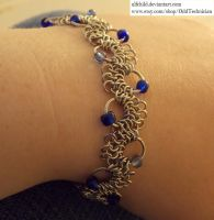 Blue Beaded Bracelet, modified 4-in-1 by ulfchild