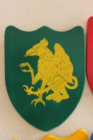 Green Griffin Shield Stock by BeccaB-Stock-N-Art