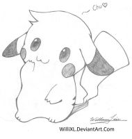 Super Cute Pikachu by WilliXL