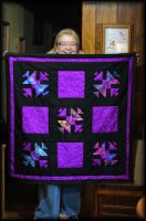 Happy New Year Lap Quilt by LadyAliceofOz