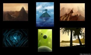 Environment thumbnails by Psysoul