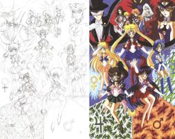 Sailor Moon fan art sketch and color 1 by d13mon-studios