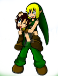 LoZ UO: Piggy back by SeerofBloodyHope