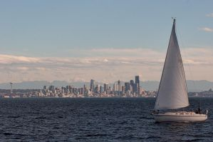 Sailing Seattle by Carise