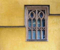 Window in a yellow wall by myp55