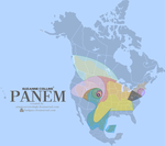 Map of Panem by aimmyarrowshigh