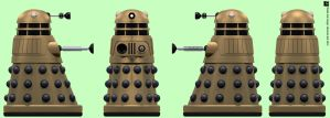 Arcade Gold Dalek by Librarian-bot