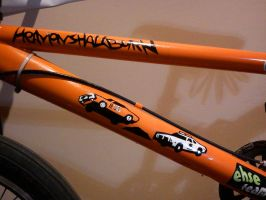 General Lee Decal on BMX by vinyo