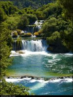 Waterfall 1 - Krka by Wengersky
