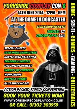 Yorkshire Cosplay Con 6 - Poster Design by YorkshireCosplayCon