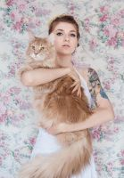 Lady with a Maine Coon by Ashiwa666
