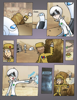 Wall.E Comic: Meeting Eve by BladeXD